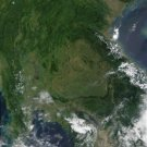 Large Photo Reprint:(8.5x11) SATELLITE, flooding, THAILAND, cambodia, view,space