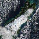 Large Photo Reprint:(8.5x11) SATELLITE, south island, NEW ZEALAND, snow, WOW