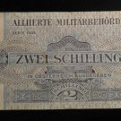World/ Foreign Bill Banknote: ZWEI SCHILLING, 2, ALLIERTE ALLIED MILITARY