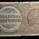 World/ Foreign Bill Banknote: JEDNA KORUNA, PROTEKTORAT, MAHREN, CECHY MORAVA