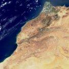 Large Photo Reprint:(8.5x11) SATELLITE, ocean, MOROCCO, sea, COAST, africa MODIS