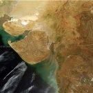 Large Photo Reprint:(8.5x11) SATELLITE, india, GUJURAT, surat, AERIAL VIEW,sea