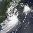 Large Photo Reprint:(8.5x11) SATELLITE, 2007, GABRIELLE, storm, LANDFALL, 1800Z