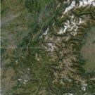 Large Photo Reprint:(11x17) Satellite Photo ALPS, FRANCE, nasa, MOUNTAINS, 250m