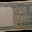 World/ Foreign Bill Banknote CURRENCY: BRITISH INDIA COLONIAL 1940 ONE RUPEE