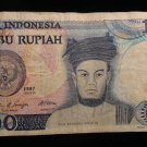 World/ Foreign Bill Banknote CURRENCY: INDONESIA, 1000 RUPIAH, SERIBU 1987