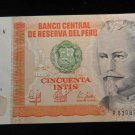 World/ Foreign Bill Banknote CURRENCY: 50 PESOS, PERU, 1987, INTIS CINCUENTA