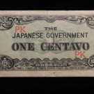 World/ Foreign Bill Banknote CURRENCY: JAPANESE MILITARY GOVERNMENT CENTAVO PK