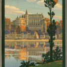 "Large Photo:(11x17)Vintage Travel Poster Reprint:""France, Chemin D'Orleans De"