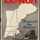 "Large Photo:(11x17)Vintage Travel Poster Reprint:""New Haven Railway, Boston"""