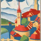 "Large Photo:(11x17)Vintage Travel Poster Reprint:""Berne Switzerland"""