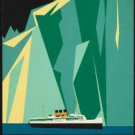 "Large Photo:(11x17)Vintage Travel Poster Reprint:""Alaska Canadian Pacific Taku"""