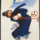 "Large Photo:(11x17)Vintage Travel Poster Reprint:""Austria, Skiing"""