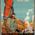"Large Photo:(11x17)Vintage Travel Poster Reprint:""Haere Mai, New Zealand"""