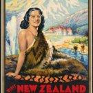 "Large Photo:(11x17)Vintage Travel Poster Reprint:""New Zealand, Wonderland"""