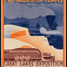 "Large Photo:(11x17)Vintage Travel Poster Reprint:""Great Lakes Exposition 1936"""
