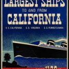 "Large Photo:(11x17)Vintage Travel Poster Reprint:""Panama Pacific Line, Virginia"""