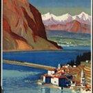 "Large Photo:(11x17)Vintage Travel Poster Reprint:""Electric St. Gotthard Line"""