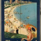Large Photo:(8.5x11)Vintage Travel Poster Reprint: Chicago the Vacation City
