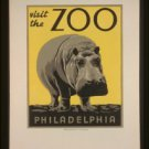 Large Photo:(8.5x11) Vintage WPA Poster Reprint: Visit the Philadelphia Zoo