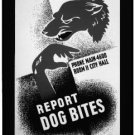Large Photo:(8.5x11) Vintage WPA Poster Reprint: Report Dog Bites, Cleveland DH