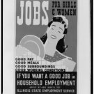 Large Photo:(8.5x11) Vintage WPA Poster Reprint: Jobs for Girls and Women