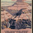 Large Photo:(8.5x11) Vintage WPA Poster Reprint: Grand Canyon, Free Service NPS