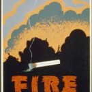 Large Photo:(8.5x11) Vintage WPA Poster Reprint: Fire Wrecks a Forest