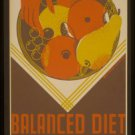 Large Photo:(8.5x11) Vintage WPA Poster Reprint: Balanced Diet, Expectant Mother