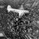 Large Photo:(8.5x11) USAF:Air Force: C-46D, Over Baltimore in 1956, B&W Print