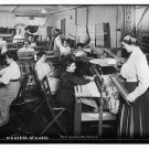 Antique Reproduction Photograph: Weavers at Work, unknown location, 1913