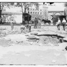 Antique Reproduction Photograph: Damage, Burst Water Main, 129th Street NY,NY
