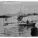Antique Reproduction Photograph: Captain Ginocchio's Aeroplane, Water, Amphibian