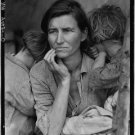 Antique Reproduction Photograph: Destitute Pea Pickers, Mother of 7, Nipomo,CA