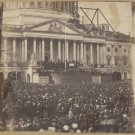 Antique President Abraham Lincoln Reproduction Photo: Inauguration March 4, 1861