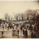 Antique President Abraham Lincoln Reproduction Photo: Crowd, 2nd Inauguration