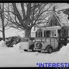 *NEW* Antique Cows Photograph:Skier Parking, Clinton Gilberts Farmhouse, Snow