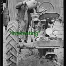 "*NEW"" TOPPING UP WATER-GRUNDY COUNTY,IA (8.5X11) OLD LARGE ANTIQUE TRACTOR PHOTO"