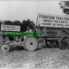 "*NEW"" ""FORDSON MOVES THE EARTH"" 1921=(8X10) OLD LARGE ANTIQUE TRACTOR PHOTO"