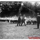 *NEW* Antique Reprint Photo: Carrying out Fainted Girls, Pass Ball Relay Unknown