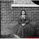 *NEW* Antique Reprint Photo: Girl in Dress, Aiken's Landing, Virignia, House
