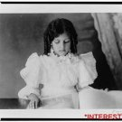 *NEW* Antique Reprint Photo: Girl in Dress, Fashion, looking at open book,