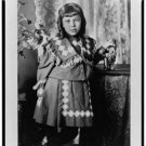 *NEW* Antique Reprint Photo: Girl in Dress, Fashion, Portrait, next to table