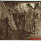 New Studio Quality Antique Photo:Basket Factory, Evansivlle, Indiana,Girl Worker