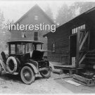 DETROIT ELECTRIC OLD CAR IN 1919 CHARGING :ANTIQUE AUTOMOBILE PHOTO (5x7)