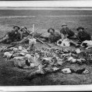 NEW PRARIE EXHIBITION IN DAKOTA IN 1890 DUCK HUNT(8.5x11)ANTIQUE DOG PHOTOGRAPH