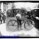"""*NEW* Antique Bicycle Photo:(8.5x11) Boy on Bicycle, """"RANGER"""" Bike, old, car"""