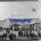 Nicodemus- GRAHAM COUNTY, KANSAS IN 1885 (5x7) ANTIQUE GENERAL STORE RP PHOTO