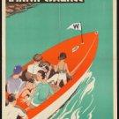 Large Photo:(8x10)Vintage Travel Poster Reprint: Lake Winnipesaukee, Boston RR