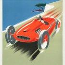 """Large Photo:(8x10)Vintage Travel Poster Reprint:""""Cote D'Azur Racecar"""""""